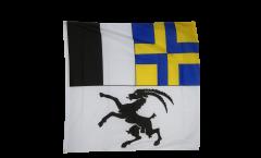 Flagge Schweiz Kanton Graubünden - 120 x 120 cm