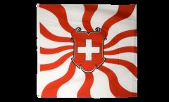 Flagge Schweiz geflammt - 120 x 120 cm