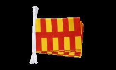 Fahnenkette Großbritannien Northumberland - 15 x 22 cm