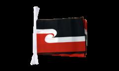 Fahnenkette Neuseeland Maori - 15 x 22 cm