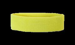 Stirnband Einfarbig Gelb - 6 x 21 cm