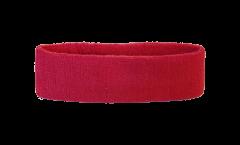 Stirnband Einfarbig Rot - 6 x 21 cm