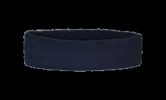 Stirnband Einfarbig Schwarz - 6 x 21 cm