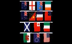 Fahnenkette Rugby WM 2013 - 30 x 45 cm