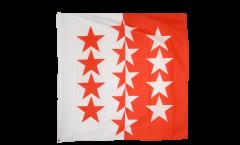 Flagge Schweiz Kanton Wallis - 120 x 120 cm