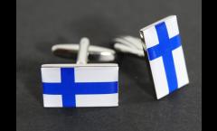 Manschettenknöpfe Flagge Finnland - 18 x 12 mm