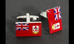 Manschettenknöpfe Flagge Bermudas - 18 x 12 mm