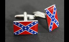 Manschettenknöpfe Flagge USA Südstaaten - 18 x 12 mm