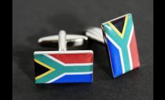 Manschettenknöpfe Flagge Südafrika - 18 x 12 mm