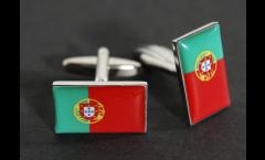 Manschettenknöpfe Flagge Portugal - 18 x 12 mm