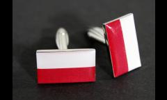 Manschettenknöpfe Flagge Polen - 18 x 12 mm