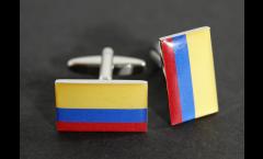 Manschettenknöpfe Flagge Kolumbien - 18 x 12 mm