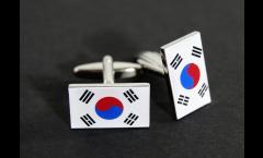 Manschettenknöpfe Flagge Südkorea - 18 x 12 mm