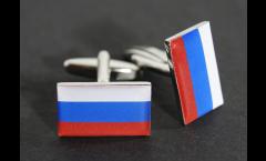 Manschettenknöpfe Flagge Russland - 18 x 12 mm