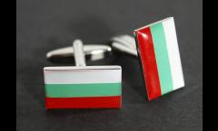 Manschettenknöpfe Flagge Bulgarien - 18 x 12 mm