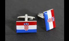 Manschettenknöpfe Flagge Kroatien - 18 x 12 mm