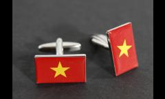 Manschettenknöpfe Flagge Vietnam - 18 x 12 mm