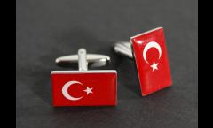 Manschettenknöpfe Flagge Türkei - 18 x 12 mm