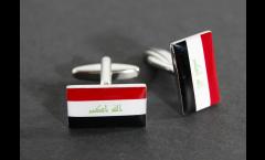 Manschettenknöpfe Flagge Irak - 18 x 12 mm