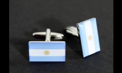 Manschettenknöpfe Flagge Argentinien - 18 x 12 mm