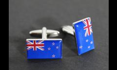 Manschettenknöpfe Flagge Neuseeland - 18 x 12 mm