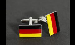 Manschettenknöpfe Flagge Deutschland - 18 x 12 mm