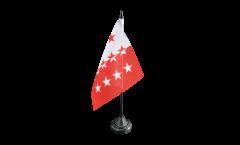 Tischflagge Schweiz Kanton Wallis - 12 x 12 cm