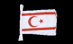 Fahnenkette Nordzypern - 30 x 45 cm