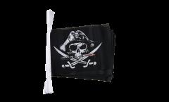 Fahnenkette Pirat mit blutigem Säbel - 15 x 22 cm