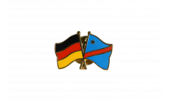 Freundschaftspin Deutschland - Demokratische Republik Kongo - 22 mm