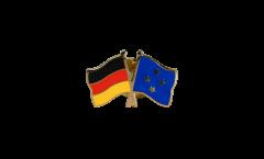 Freundschaftspin Deutschland - Mikronesien - 22 mm