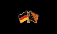 Freundschaftspin Deutschland - Papua-Neuguinea - 22 mm