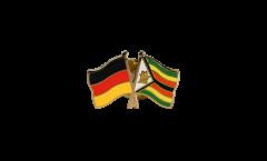 Freundschaftspin Deutschland - Simbabwe - 22 mm