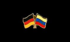 Freundschaftspin Deutschland - Venezuela 8 Sterne - 22 mm