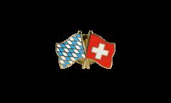 Freundschaftspin Bayern - Schweiz - 22 mm