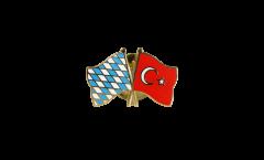 Freundschaftspin Bayern - Türkei - 22 mm
