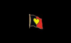 Flaggen-Pin Herzflagge Belgien - 2 x 2 cm