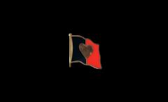 Flaggen-Pin Herzflagge Belgien 2 - 2 x 2 cm