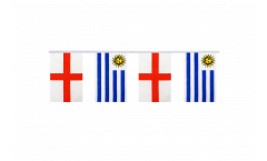 Freundschaftskette England - Uruguay - 15 x 22 cm