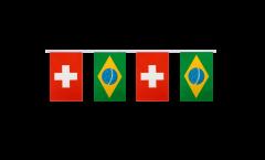 Freundschaftskette Schweiz - Brasilien - 15 x 22 cm