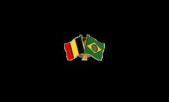 Freundschaftspin Belgien - Brasilien - 22 mm