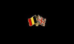 Freundschaftspin Belgien - Großbritannien - 22 mm