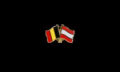 Freundschaftspin Belgien - Lettland - 22 mm