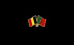 Freundschaftspin Belgien - Portugal - 22 mm