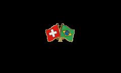 Freundschaftspin Schweiz - Brasilien - 22 mm