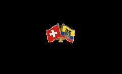 Freundschaftspin Schweiz - Ecuador - 22 mm
