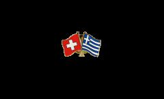 Freundschaftspin Schweiz - Griechenland - 22 mm