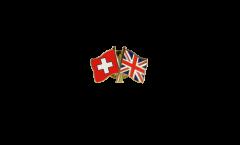 Freundschaftspin Schweiz - Großbritannien - 22 mm