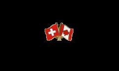 Freundschaftspin Schweiz - Kanada - 22 mm