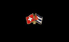 Freundschaftspin Schweiz - Kuba - 22 mm